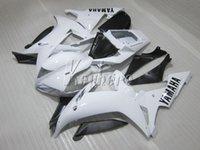 blanco yamaha r1 plastico al por mayor-Kit de carenado de plástico para carrocería Yamaha YZF R1 02 03 blanco negro carenados YZF R1 2002 2003 OI44
