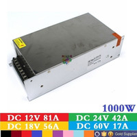 Wholesale Lighting 12 V Dc - Universal Power Supply DC 12 V 83.3A 1000W Switching Voltage Transformer Power Switch For LED Strip Lighting CNC Lamp CCTV