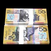 Wholesale Australian Souvenirs - 100Pcs Lot Australian AUD 50 Movie Props Money Bank Staff Learning Trainings Banknotes Christmas Arts Gifts Home Decoration Souvenir