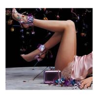 schnitt offene kleider großhandel-Netzgarn Schmetterlingspumpen für Frauen Sophia Webster Open Toe Ankle Gladiators Summer Fall 2018 Dress Shoes
