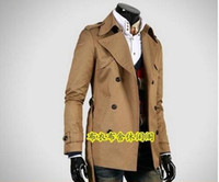Wholesale Trench Coat Big Man - Autumn slim sexy double-breasted trench coat men business outerwear mens trench coat clothing modern urban big size 7XL 8XL 9XL