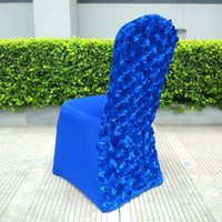 Wholesale Satin Cover Chair Banquet - Banquet Chair Covers Spandex Cover European Rose Satin High-End Elastic Wedding Chair Covers Folding Hotel Supplies 3 Colors To Choose