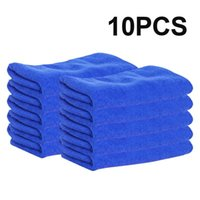 10pcs Ultra Soft Microfiber Auto Car Cleaning Полотенцевая ткань Wipe Cleanse Home Blue