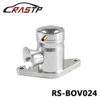 76mm turbo venda por atacado-RASTP-Racing prata Bolt-On Top Mount Turbo BOV sopro fora da válvula para Subaru WRX 02-07 EJ20 / EJ25 LS-BOV024