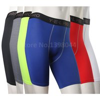 Wholesale Skins Compression Wholesale - Wholesale-Men Base Layer Cycle Tight Short Pants Skin Compression Sports Running Basketball Soccer Fitting Exercise Shorts Boxer 1034