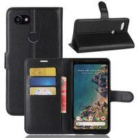 Wholesale Lg Nexus Phone Case - For google nexus 6 pixel 2 XL Litchi Skin Flip Wallet Leather Stand Holder Case Cover Slots Card Phone Cases