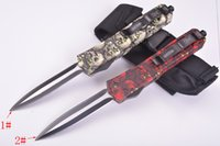 Wholesale Microtech Red - Ant Red and black Ghost Combat Hunting knives 1pcs free shipping (Microtech Benchmade Cold steel can not compare)