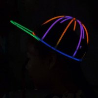 Multicolor Fluorescence Light Glow Cap Glowing Sticks Luminous Baseball Hat Stage Performance Props Party Bar Décoration ZA3325