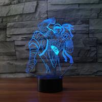 ingrosso tabella dei giocattoli del ragazzo-3D cieco monaco Night Light 7 Cambia colore LED Table Xmas Toy Gift for boy