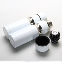 Wholesale white thermos cup - wholesale price for 10pcs white cup thermos with logo and gift box