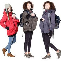 Wholesale Pregnancy Winter Coat - Wholesale- Baby Carrier Jacket Kangaroo Winter Maternity Outerwear Coat for Pregnant Women Thickened Pregnancy Wool Baby Wearing Coat Women