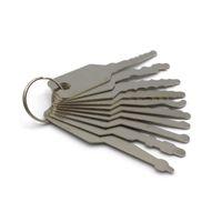 cerrajero de alta calidad al por mayor-Alta calidad 10 unids Jiggler Keys Lock Pick Set para Double Sided Lock profesional herramienta de cerrajero bolsa de cuero