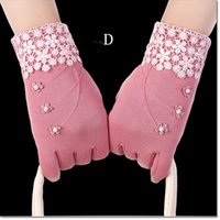 Wholesale Glove Winter Female - hot selling brand new Multi function winter gloves touch screen 5 fingers beauty glove for female with much colors for DHL free