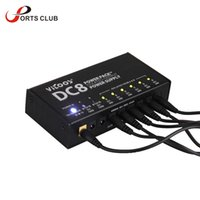 Wholesale Stabilized Voltage Supply - Wholesale- Guitar Effects Power Supply 8 Isolated Outputs 6 Way 9V 2 Way Adjustable 9V 12V 18V Switching Stabilized Voltage