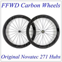 Wholesale Matt Black Wheel - FFWD 2017 Black Decals Full Carbon Bike Wheels 60mm Depth 23mm With 3K Matt Wheels Carbon Novatec 271 Hubs 20 24 Black Spokes