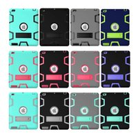Wholesale Defender shockproof Robot Case Heavy Duty Kickstand Silicon Cover For iPad Pro Air Mini