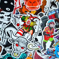 Wholesale Cool Cases For Laptop - 100 Pieces Car Stickers Random Decals Patterns Bumper Cool Vinyl for Laptop,Bedroom,Travel Case,Luggage,Bike,Bicycle,Motorcycle,Skateboard