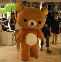 Wholesale Coffee Color Dresses - 2017 Hot sale easy bear big coffee color big stupid bear mascot costume adult Fancy dress free shipping