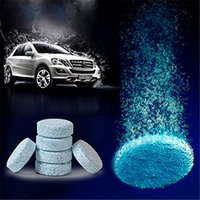 Wholesale Glasses Wipers - 6pcs pack Car Windshield Compact Glass Washer Clean Cleaner Effervescent Tablets Detergent Solid Wiper