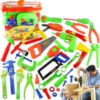 Wholesale Play House Toy Maintenance Tools Portable Children Toolbox Simulation Repair Kit Kids Educational Toys EMS