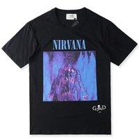 Wholesale God Flash - Fear Of God LA Resurrected Rock T Shirts Kanye West Nirvana In Utero Wings Tops Tees Hip Hop Casual Cotton Short Sleeve Tshirts