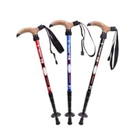Wholesale T Cork - Original Hewolf T-handle Hiking Stick Walking Trekking Pole for Climbing Mountaineer 3 Colors New Arrival 2527011