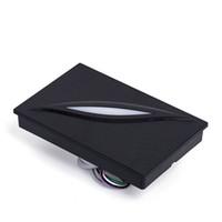 фоб системы оптовых-Wholesale- LED Light Waterproof Black color 125Khz RFID Reader WG26/34 Reader Card Key fob Reader For Access Control System
