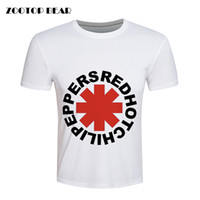 Wholesale T Shirt Skate Wholesale - Wholesale- Red Hot Chili Peppers T shirt Men Hip hop T-shirt Skate White Rock Summer Loose Brand Clothing Fashion Casual Tee ZOOTOP BEAR