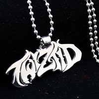 Wholesale Mirror Necklaces - NEW Mirror high polished Twiztid Platinum silver Style charm stainless steel pendant necklace Support the wholesale, personalized custom.