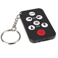 Wholesale Ir Ring - Wholesale- Key Chain Ring Keychain with Ease Shape Mini Universal Infrared IR TV Sets 7 Keys The TV Remote Control Controllers