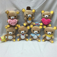 Wholesale Stuffed Animals Wedding Bears - Cute Rilakkuma Bear Plush Toys 18cm Easy Bear Stuffed Dolls Cartoon Animal Wedding Gift Doll for Kids