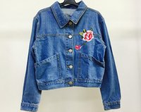 Wholesale Denim Skirts For Women - The real shooting western style 2017 Denim Jacket female summer hot Skirts broken hole A word skirt bust package buttocks jackets for women