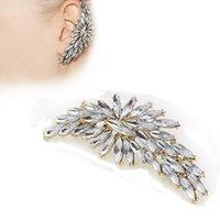 Wholesale Drilled Ear Cuffs - Newest Charming Crystal Drill Ear Cuff Clip On Earrings For Women Fashion Girls Ear Gift Piercing Jewelry