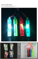 Wholesale Colored Favor Boxes Wholesale - Bright colored luminous whistle whistle fans cheer cheer factory direct wholesale rescue whistle
