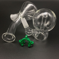 Wholesale Cheap Plastic Bowls - Cheap Mini Glass Beaker Bongs Female 10mm Joint With Male 10mm joint Ash catcher glass bowls & 10mm Plastic Keck Clips mini glass bong