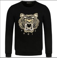 Wholesale Tiger 3d - Hip Hop autumn Men Women Fashion tiger head Hoodie O-neck shark Cotton 3d Couple Sweatshirts