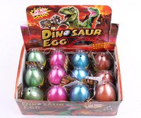 Wholesale movie inflation - Large Size 12pcs set Water Hatching Inflation Dinosaur Egg Novelty Toys Cracks Grow Egg Educational Toys free shipping TY2090