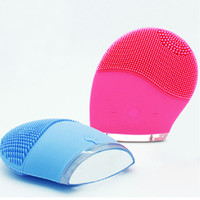 Wholesale Sonic Wash - Hot!!Electric Silicone Facial Brush Cleaner Face Wash Brushes Sonic Face Cleanser Ultrasonic Skin Care Tool Facial Cleaning Massage