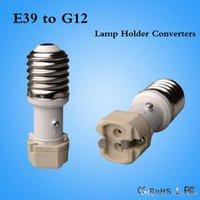 Wholesale G12 Adapter - Retardant PBT Lamp Adapter E39 to G12 Adapter Converter G12-E39 CE & RoHS 100pcs lot DHL Free Shipping