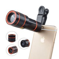 Wholesale Zoom Iphone 4s 12x - 12x Zoom Telephoto Lens Telescope Phone Camera Lenses For iPhone 4S 5 5s SE 6s 7 Plus Smartphone Cell Phone Lentes With Clips