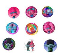 Wholesale Home Decor Poppies - Refrigerator Magnets Trolls Poppy PVC 25MM Magnet Home Decor 17 Styles Fridge Magnet Children Favor Gifts DHL Free Shipping