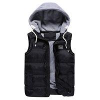 Wholesale Men Vest Boutique - Wholesale- Fashion boutique men jacket 2015 spring autumn warm coat Plus size M-5XL male wadded casual jacket vest outerwear Free shipping