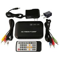 медиа-плеер usb mp4 оптовых-Оптово-Новая цифровая USB Full HD 1080P HDD Media Player HDMI VGA MMC SD Поддержка DIVX AVI RMVB MP4 H.264 FLV MKV Музыка Фильмы