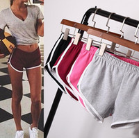 Wholesale women shorts pants - Women Girl Sports Shorts pant Running Gym Beach Casual Fitness Yoga Summer Pants Homewear elastic Shorts 13 color KKA1659
