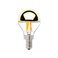 Wholesale Mirror Bulb - Gold Mirror,G45 Globe Bulb,4W,Edison LED Filament Bulb,E12 E14 Standard Base,Warm White,Decorative Household Lights,Dimmable