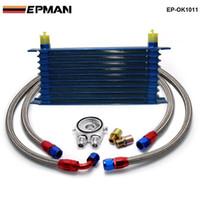 Wholesale adapter regulator - Tansky - Universal 10 Rows Oil Cooler Kit M20XP1.5 3 4X16 UNF Oil Filter Fitting Adapter TK-OK1011