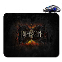 Wholesale Mouse Custom - Runescape Logo Custom Hot Selling Antislip High Definition Printing Gaming Rubber Mouse Pad Cheap Computer Desk Free Shipping