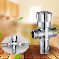 Wholesale Flow Valve - Solid Brass Chrome Water Flow Valve For Bidet Sprayer and Shower Faucet High Quality Angle Valve
