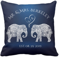 Wholesale Throw Pillow Case TONS OF LOVE Elephant Couple Custom Wedding Gift Square Sofa and Car Cushions Cover inch inch inch