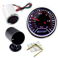 Wholesale Hight Quality Inch mm Cars Autos Vehicle Smoke White LED Turbo Boost Gauge Vacuum Meter Car Instruments